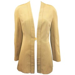 Giorgio Armani Beige Single Button Blazer