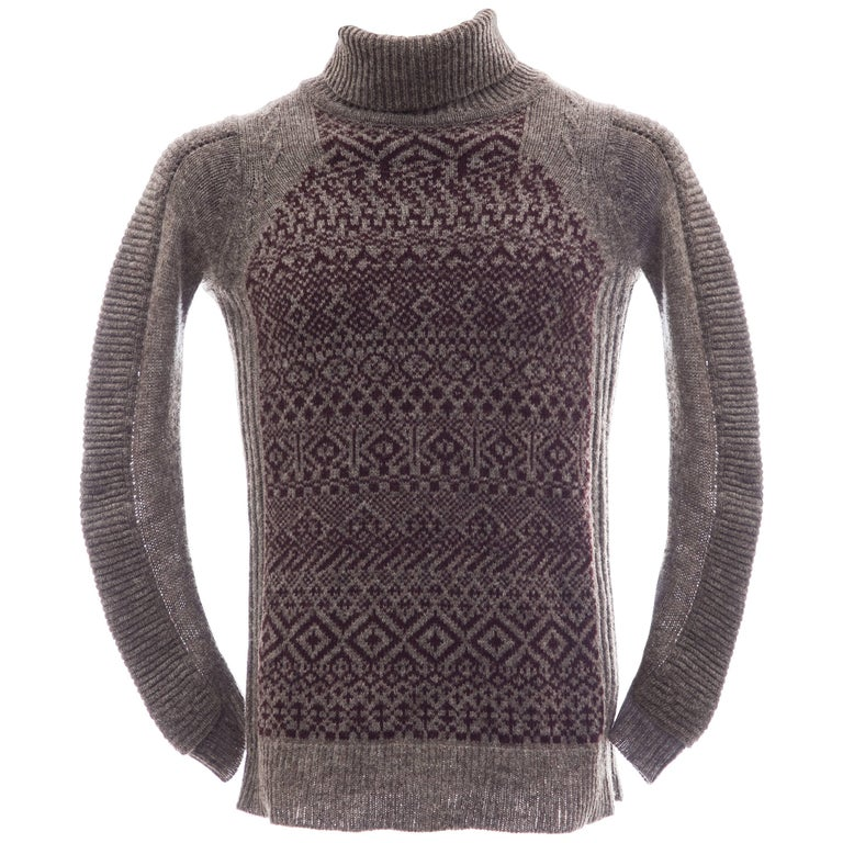 Raf Simons History of My World Wool Knit Sweater, Autumn - Winter 2005 - 2006 For Sale