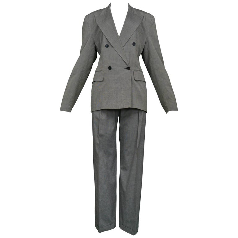 Vintage 1980s Alaia Grey Double-Breasted Suit