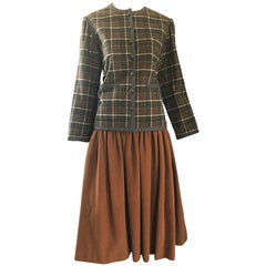 Vintage Yves Saint Laurent Russian Collection 1976 Jacket and Skirt Suit YSL 70s