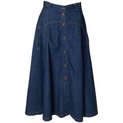 Vintage Denim Skirt from the 1970s