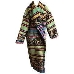 Byblos 1970's Blanket Coat by Gianni Versace