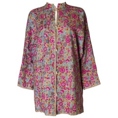 A Vintage 1970s colourful floral Hand Embroidered Jacket