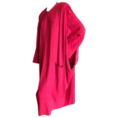 Sonia Rykiel Vintage 1980's Red Side Slashed Kimono Style Coat