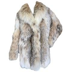 Luxurious Genuine Lynx Fur Stroller Coat