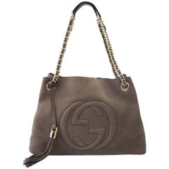 Gucci Taupe Nubuck Soho Hobo Shoulder Bag