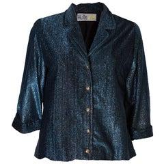 A Vintage 1960s Blue lurex Sparkle Jacket