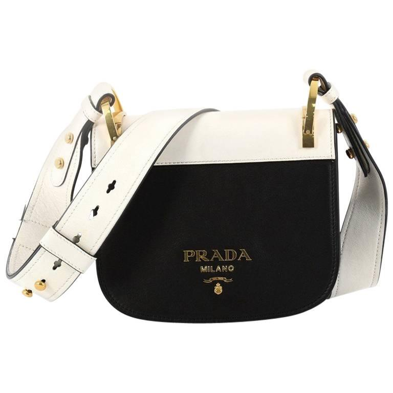 07900cff16d436 Prada Pionniere Saddle Crossbody Bag City Calfskin Small at 1stdibs