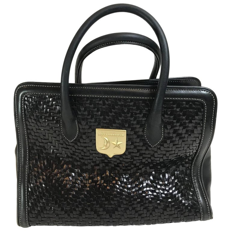 Barry  Kieselstein-Cord Woven Leather Handle Bag