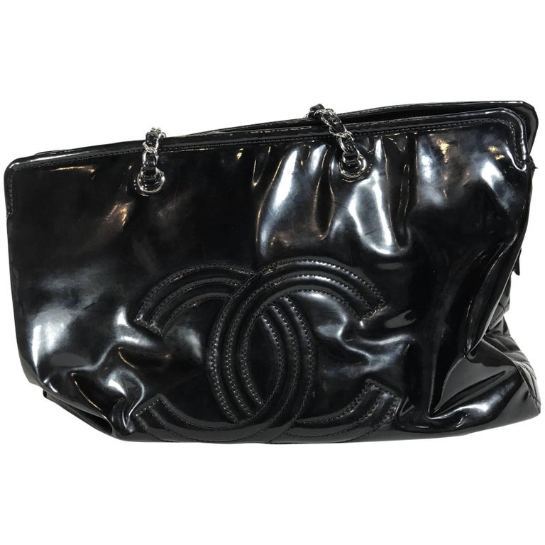 Chanel Patent Leather Oversized Shoulder Bag For Sale