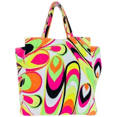 Pucci velvet terry beach tote and matching beach towel