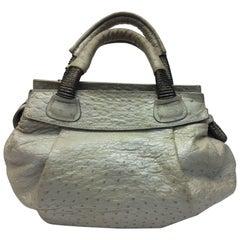 Nuti Cream Ostrich Handbag