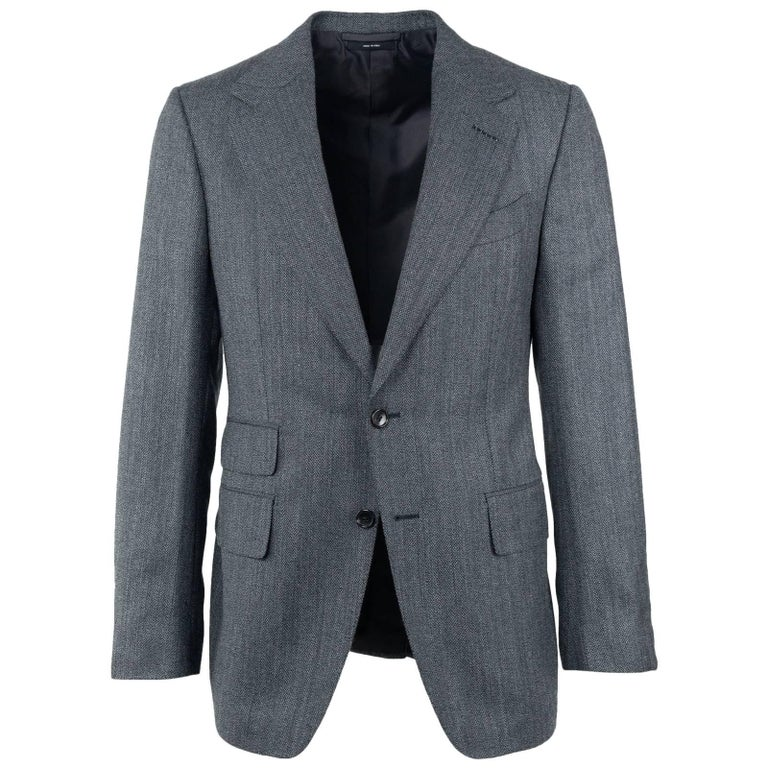 Tom Ford Mens Charcoal Grey Brown Wool Blend Shelton Suit