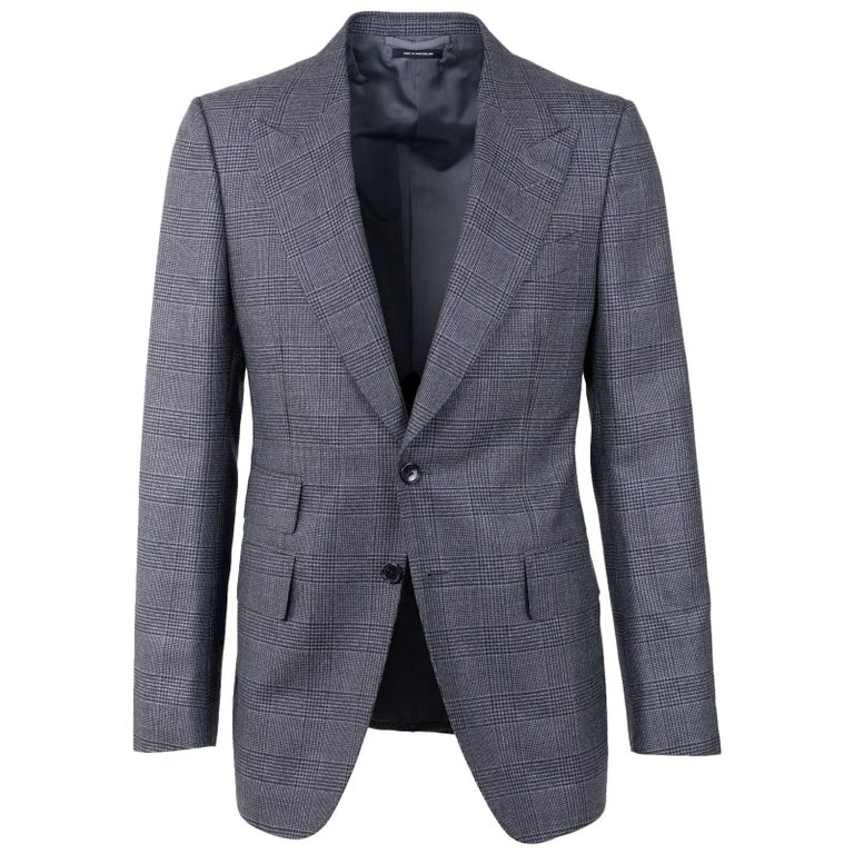 Tom Ford Gray Shelton Windowpane Two Piece Suit