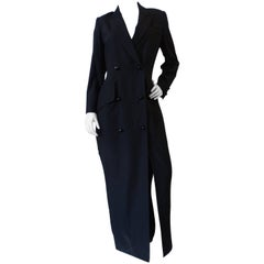 Zang Toi Double Breasted Coat Dress