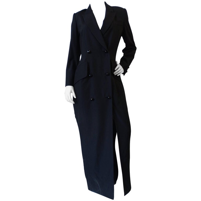 Zang Toi Double Breasted Coat Dress