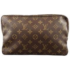 Louis Vuitton Vintage Brown Monogram Trousse Toilette 28 Toiletry Bag