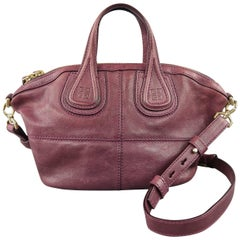 Givenchy Plum Purple Leather Nightingale Mini Handbag
