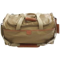 Hartmann 20in Duffel Bag Nylon Canvas Leather Travel Bag + Shoulder Strap