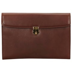 Gucci Brown Leather Business Bag