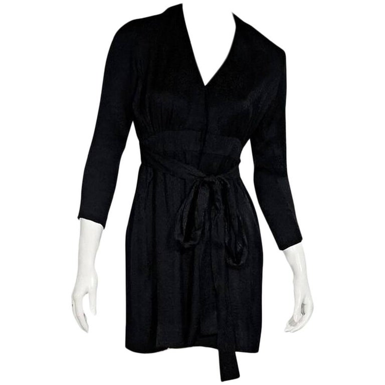 Black Vintage Chanel Creations Silk Dress