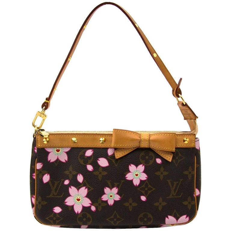 Louis Vuitton Limited Edition Monogram Cherry Blossom Pochette For Sale 26a8c548b776a