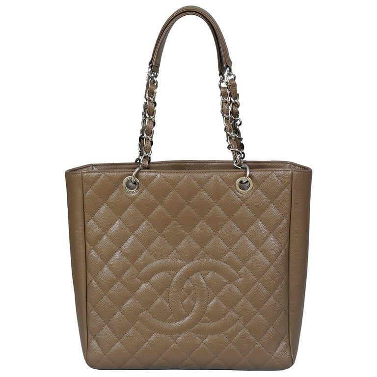 b818b91b328a Chanel Large Taupe Caviar Leather Shopping Tote at 1stdibs