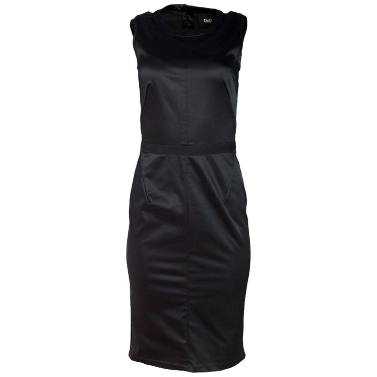 D&G Black Sleeveless Dress Sz IT40