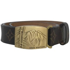 LOUIS VUITTON Unisex Belt in Brown Monogram Canvas Size 90/36