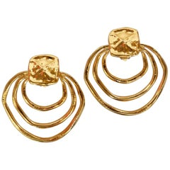 Christian Lacroix Gold Hoop Earring, 1980s