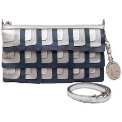 HOGAN Unisex Clutch designed by Karl Lagerfeld in Silver Leather