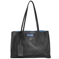 Prada Grey Small Glace Calf Etiquette Shopper Tote Bag rt. $2,100