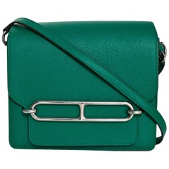 Hermes Green Evercolor Mini Sac Roulis Crossbody Bag, 2017