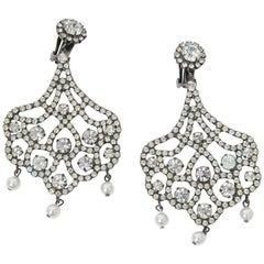 Kenneth Jay Lane Chandelier Crystal Earrings