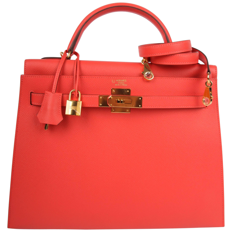 Hermes Epsom Kelly 32 Bag Special Order Horseshoe - rose jaipur 2018 at  1stdibs b40de0f6306d6