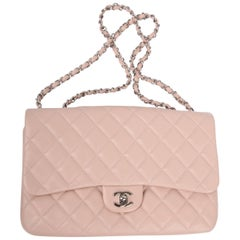 Chanel Classic Flap Bag Jumbo 3 - dusty pink