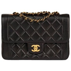 Chanel Black Quilted Lambskin Vintage Classic Single Flap Bag, 1990s