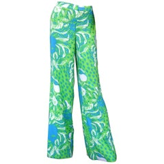 Lilly Pulitzer Women's Vibrant Tiger Print Slacks US Size 6