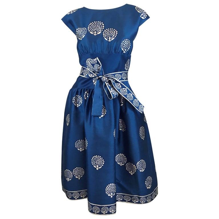 Norman Norell 1950s' Silk Dress