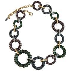 Francoise Montague Purple, Blue, and Green Shangri-la Necklace