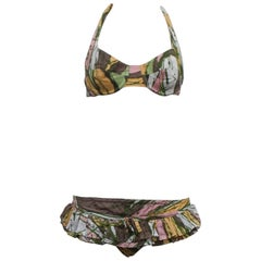1960s COTTON BIKINI - never been worn. Made in Italy