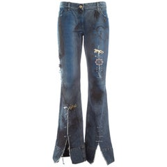 "Dolce & Gabbana waxed denim ""punk"" jeans, S / S 2001"