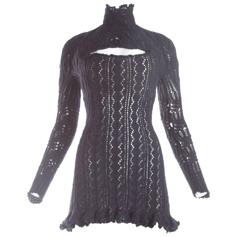 Vivienne Westwood knitted mini dress with internal corset, A / W 1993