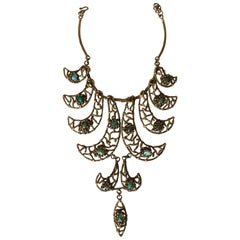 Sculptural necklace in the style of Ibram Lassaw, circa 1960