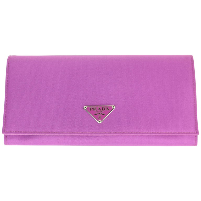 Prada Purple Polyester Wallet