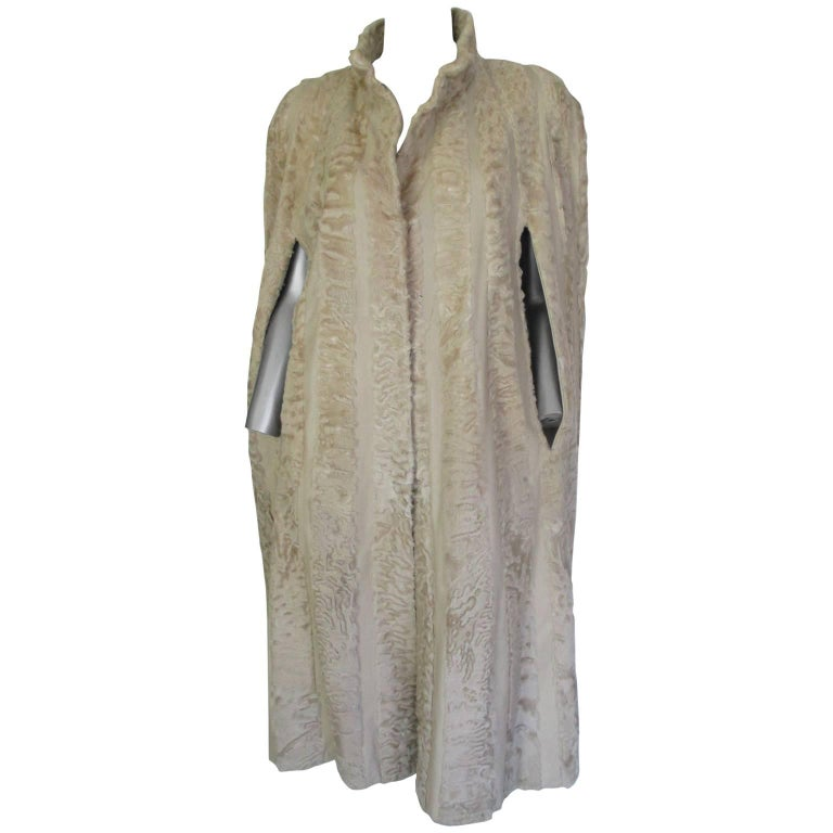long persian lamb fur cape