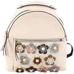 Fendi By The Way Flowerland Backpack Embellished Leather Medium