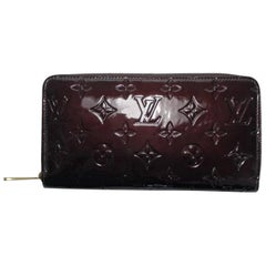 Louis Vuitton Vernis Zippy Wallet in Amarante