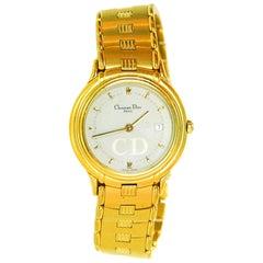 Christian Dior Goldtone Quartz Watch