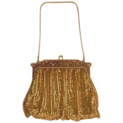 Whiting & Davis Gold Mesh Vintage Bag
